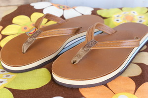 "Rainbow Sandals""Classic Leather-Double Layer Arch-Narrow"