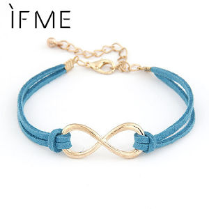 Brand Design Korean Various Colors Fashion Vintage Pure hand  Infinity Bracelets Jewelry Statement wholesale Hot sales