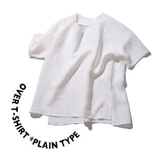 Over T-shirt *plain type [ White ]