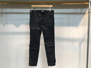 "WHOWHAT""PAZZLE DENIM BLACK TWO TONE"""