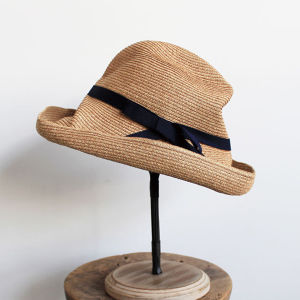 mature ha.(マチュアーハ)BOXED HAT 11cm mix brown × navy 送料無料