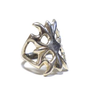 Navajo Sterling Silver Sand Cast Ring by F.L.Begay