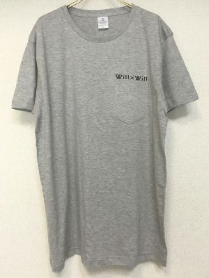 Will×Will Logo pocket T-shirts 【Gray】