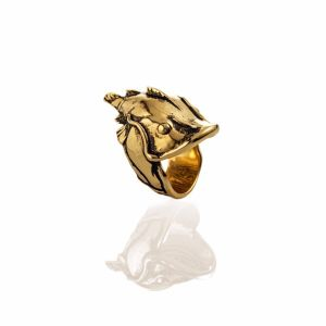 "EL SENOR YELAWOLF ""CATFISH BILLY""RING - GOLD PLATED"