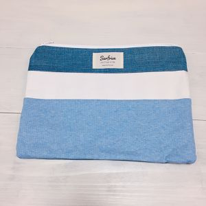 【6/17販売】Denim clutch bag R7(Light Blue)