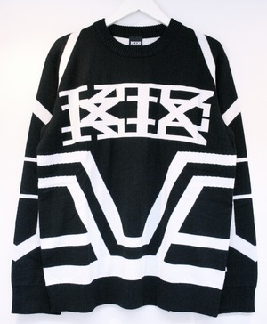 KTZ KNITTED SKI JUMPER A ニッテッド スキー ジャンパー A / BLACK 60%OFF