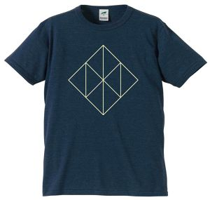 "OSRUM / DOIMOI split T-SHIRTS ""ネイビー"""