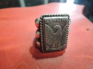 six point coin ring(eagle) 10.5 【LARRYSMITH】