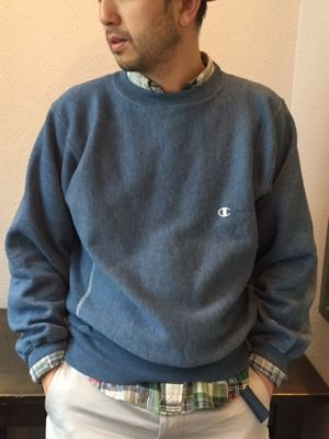 DEAD STOCK 90'S CHAMPION REVERSE WEAVE(BLUE HEATHER)