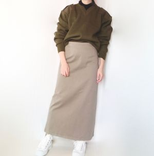 cotton-blend maxi skirt
