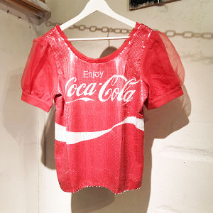 Coca Cola Spangle Tops / Red