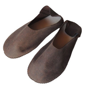 TOKYO Lether slippers HEIWA [Brown suède] Chrome-free