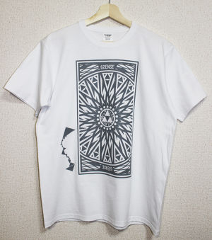 【6SENSE】 T-Shirts -Triangle-(WHITE , GRAY)