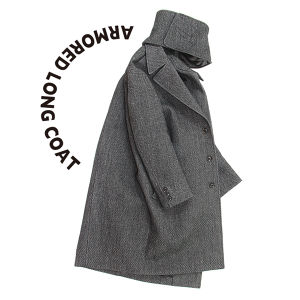 Armored Long Coat  [Dark gray]