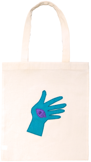 [DONGURI] HAND-STITCH APPRIQUE TOTE BAG-EG ドングリアップリケトートバッグ