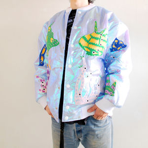 """ZL BY ZLISM"" hologram bomber jacket"