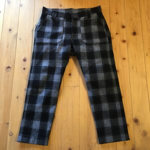 "VOO ""CHECK MELTON FIT TROUSERS"""