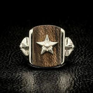 L&D WOOD RING Silver