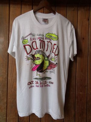 Vintage★80's DEAD STOCK【THE DAMNED】<Bad Otis Link>Tee