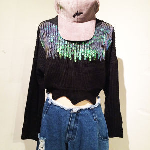 Spangle Short Knit / Black