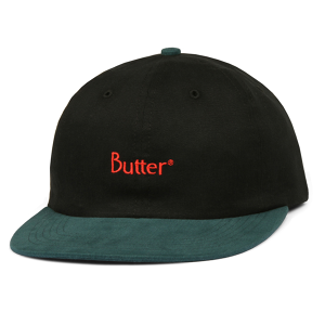 BUTTER GOODS 2-TONE BRUSHED 6 PANEL CAP BLACK / MALLARD