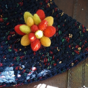 BLUEARTH FairTrade Winter Flower brooch ウィンターフラワーブローチ