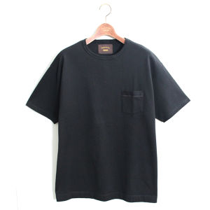Loose Pocket Tee -Black