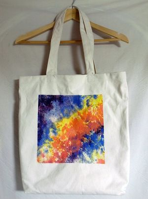 TIE DYE REFLECTER TOTE BAG
