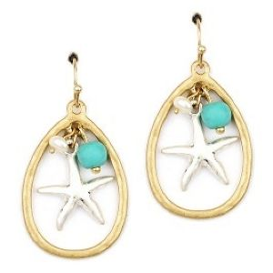 Metal MIX Starfish with Charm Pierce (PE0512)