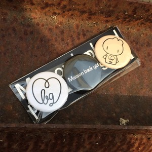 Maison book girl badge_mbg007