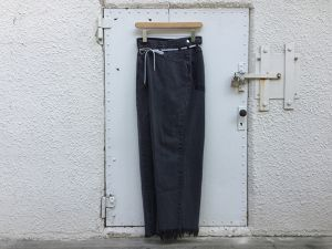 "MAISON EUREKA "" VINTAGE REWORK BIGGY PANTS BLACK B """