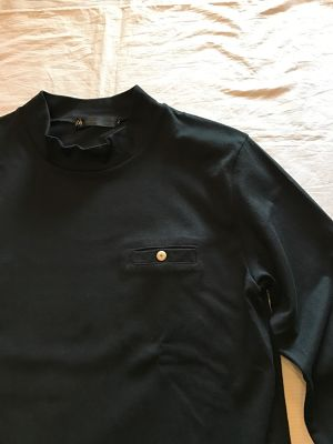 Three Quarter Sleeve Mock Neck(Re made in tokyo japan)