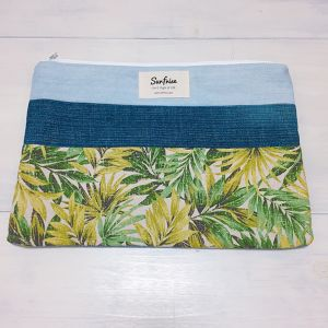 Denim clutch bag F76(Green)