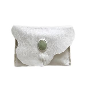 Stone-like clutch bag