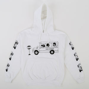 One Family Co.×0867 / Pullover Hoodie / School Bus / White