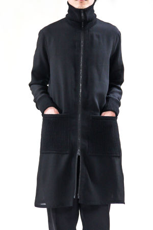 17AW Highneck Zipper Coat