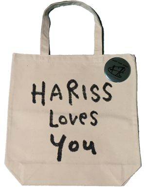 HARISS LOVES YOU トートバッグ + 缶バッジ