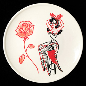 """Red Rose"" plate (予約商品)"