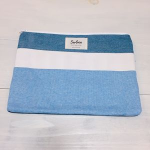 【6/17販売】Denim clutch bag R10(Light Blue)