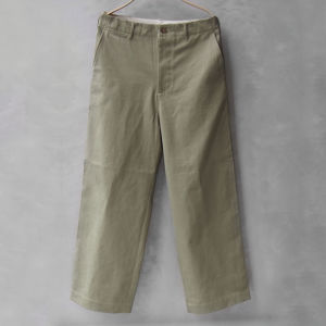 AURALEE WASHED FINX CHINO WIDE PANTS LIGHT KHAKI