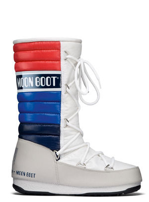 MOON BOOT W.E. QUILTED  005WHITE-BLUE-RED