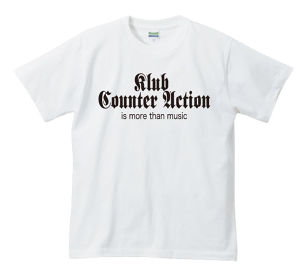 KLUB COUNTER ACTION OFFICIAL T-SHIRT : 1(白ボディー)