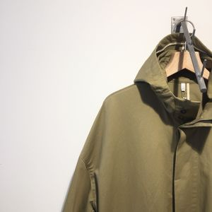 FIRMUM 【フィルマム】 COTTON BRUSHED DOBBY CORD CLOTH HOODED COAT