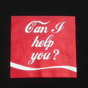 「Can I help you?」<ブラック>Tシャツ005