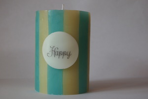 message candle -HAPPY-