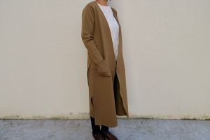 casual gown longcoat  (beige)