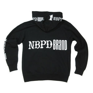 "Zip-up Hoody ""Logos"" (BLK)"