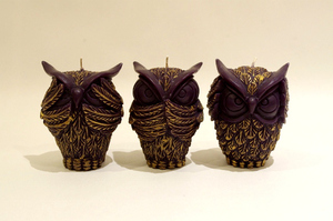 BeeMyCandle OWL/Black~Three wise owls~