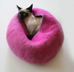 Cat Cave by Vaivanat (Hot Pink Bubble)