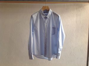 "semoh""cotton wide shirts blue"""